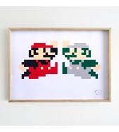 Cuadro Mario&Luigi